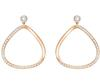 Swarovski Collection Rose Gold Crystal Stud Hoop Earrings