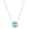 Swarovski Collection Light Blue Crystal Cut Stone Necklace