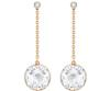 Swarovski Collection Rose Gold Crystal Cut Earrings
