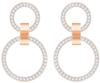 Swarovski Collection Rose Gold Plated Chandelier Hoop Earrings