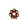 TIERRACAST® Antique Copper Daisy Spacer 4 mm Beaded