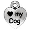 TIERRACAST® Antique Silver Love my Dog Charm