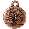 TIERRACAST® Antique Copper Tree of Life Charm