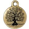 TIERRACAST® Antique Gold Tree of Life Charm