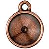 TIERRACAST® Antique Copper Drop Frame Plain Round Charm