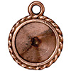 TIERRACAST® Antique Copper Drop Frame Twisted Round Charm