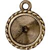 TIERRACAST® Brass Oxide Drop Frame Twisted Round Charm