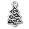 TierraCast® Antique Silver Christmas Tree Charm, Drop