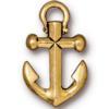 TIERRACAST® Antique Gold Anchor Pendant
