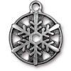 TierraCast® Antique Silver 3/4 Snowflake Charm, Drop