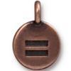 TIERRACAST® Antique Copper Equality Charm