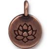 TIERRACAST® Antique Copper Lotus Charm