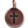 TIERRACAST® Antique Copper Cross Charm
