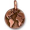 TIERRACAST® Antique Copper Earth Charm