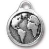 TIERRACAST® Antique Silver Large Earth Charm