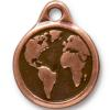 TIERRACAST® Antique Copper Large Earth Charm
