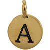 TIERRACAST® Antique Gold Alphabet A Charm