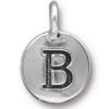 TIERRACAST® Antique Silver Alphabet B Charm