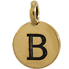 TIERRACAST® Antique Gold Alphabet B Charm