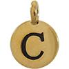 TIERRACAST® Antique Gold Alphabet C Charm