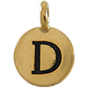 TIERRACAST® Antique Gold Alphabet D Charm