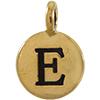 TIERRACAST® Antique Gold Alphabet E Charm