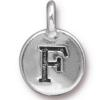 TIERRACAST® Antique Silver Alphabet F Charm