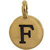 TIERRACAST® Antique Gold Alphabet F Charm