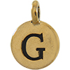 TIERRACAST® Antique Gold Alphabet G Charm