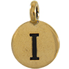 TIERRACAST® Antique Gold Alphabet I Charm