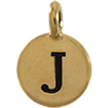TIERRACAST® Antique Gold Alphabet J Charm