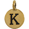 TIERRACAST® Antique Gold Alphabet K Charm