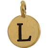 TIERRACAST® Antique Gold Alphabet L Charm