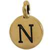TIERRACAST® Antique Gold Alphabet N Charm