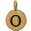 TIERRACAST® Antique Gold Alphabet O Charm