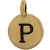 TIERRACAST® Antique Gold Alphabet P Charm