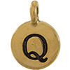 TIERRACAST® Antique Gold Alphabet Q Charm