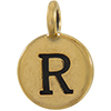 TIERRACAST® Antique Gold Alphabet R Charm