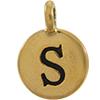 TIERRACAST® Antique Gold Alphabet S Charm