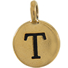 TIERRACAST® Antique Gold Alphabet T Charm