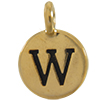 TIERRACAST® Antique Gold Alphabet W Charm