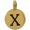 TIERRACAST® Antique Gold Alphabet X Charm