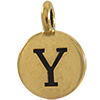 TIERRACAST® Antique Gold Alphabet Y Charm
