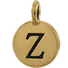 TIERRACAST® Antique Gold Alphabet Z Charm