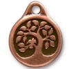 TIERRACAST® Antique Copper Bird in a Tree Charm