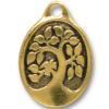 TIERRACAST® Antique Gold Bird in a Tree Pendant