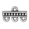 TIERRACAST® Antique Silver Beaded 3-1 Link