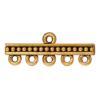 TIERRACAST® Antique Gold Beaded 5-1 Link