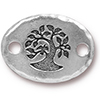 TIERRACAST® Antique Silver Bird in a Tree Link