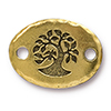 TIERRACAST® Antique Gold Bird in a Tree Link